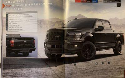 Nieuw voor de 2020 Ford F-150, Black Appearance Package