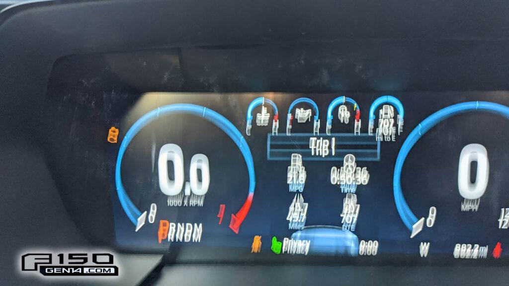 2021 Ford F-150 digitaal dashboard