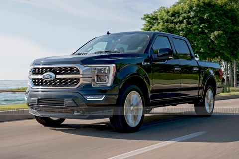2021 Ford F-150 artist rendering