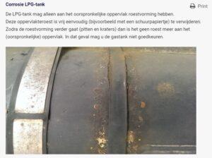 LPG tank RAM 1500 pitting