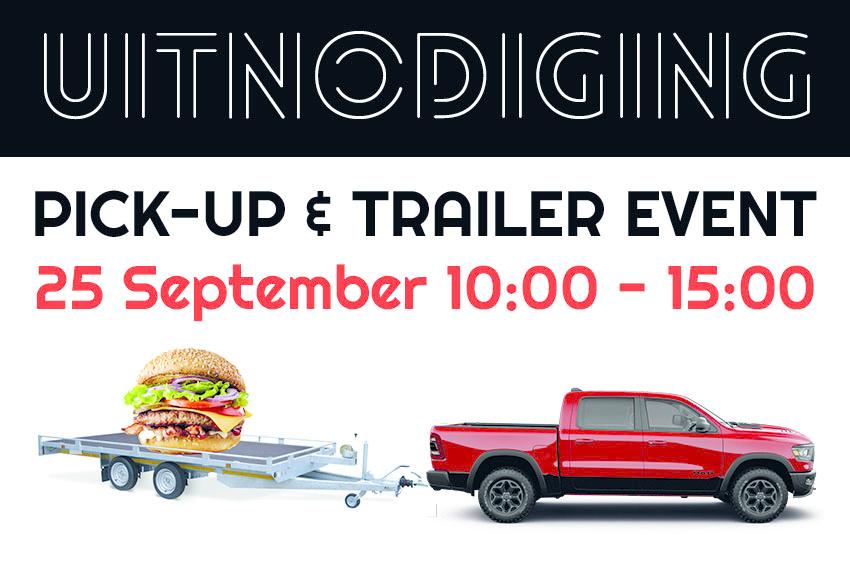 Pick-up en Trailer event